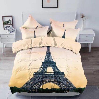 postelne obliecky MONUMENTS PARIS 3 dielna sada 140x200cm
