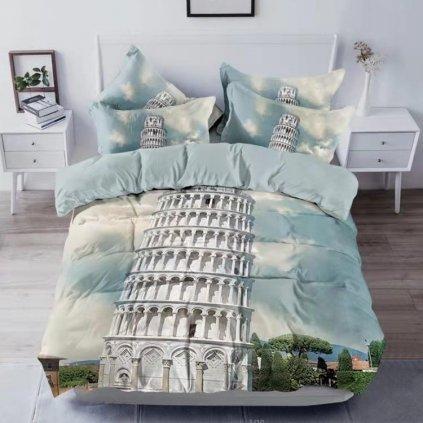 postelne obliecky MONUMENTS PISA 3 dielna sada 140x200cm