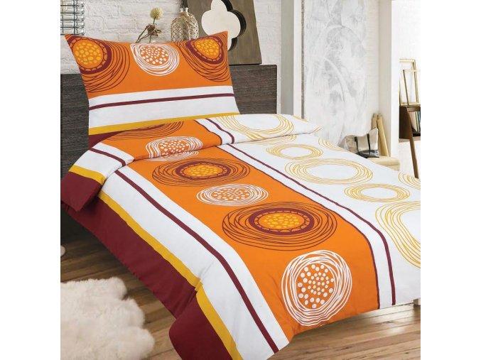 Obliečky SOFIA hnedá Zips Bavlna 70x90 140x200 cm