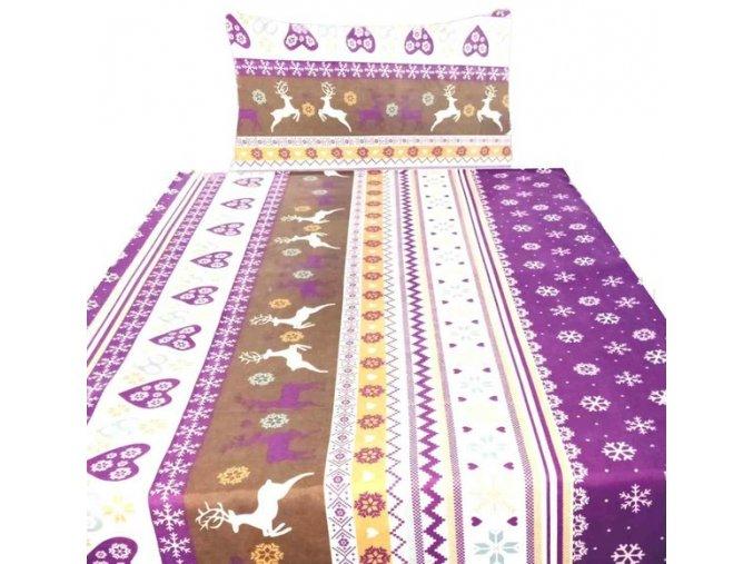 soby vlocka fialove flanelove obliecky 140x200 1564 b579