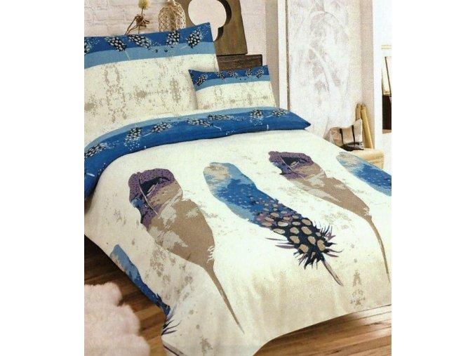 pierko modre flanelove obliecky 3 set 1584 feb9