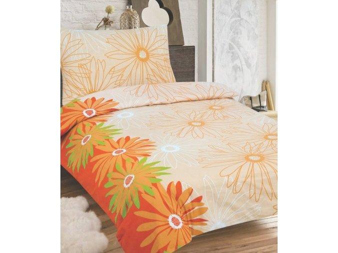 luisa bavlnene obliecky so zipsom oranzova 939
