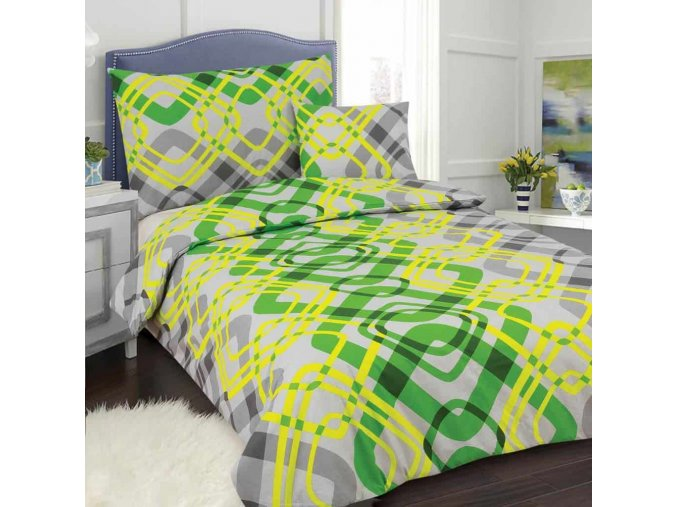 Obliečky DITA zelená Bavlna 70x90 140x200 cm