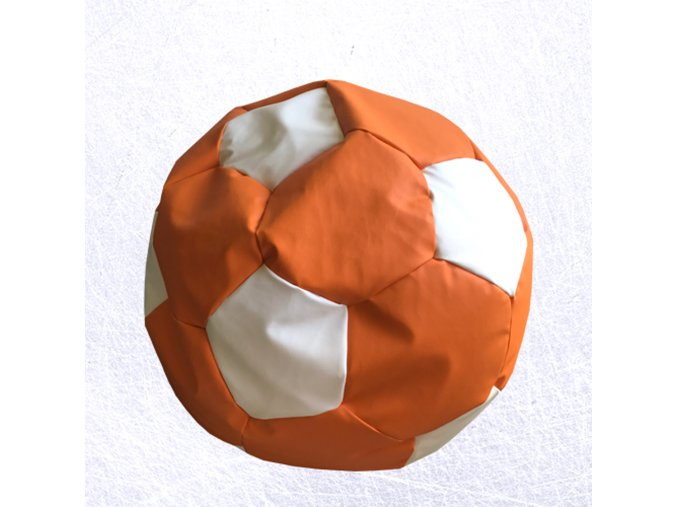 sedaci vak futbal oranzovo biela