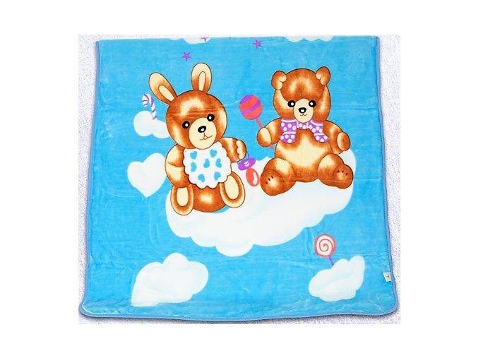 deka medvedik zajko modra 110x140cm 500x500