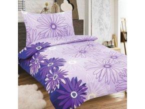 Obliečky LUISA fialová Zips Bavlna 70x90 140x200 cm