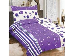 Obliečky MARCELA fialová Zips Bavlna 70x90 140x200 cm