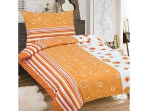 Obliečky MARCELA oranžová Zips Bavlna 70x90 140x200 cm