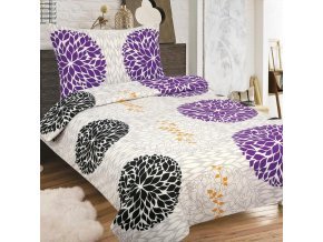 Obliečky MIRABEL fialová Zips Bavlna 70x90 140x200 cm