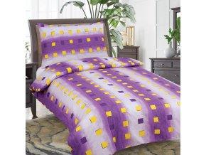 Obliečky NELIA fialová Bavlna 70x90 140x200 cm