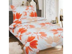 Obliečky NICOLA oranžová Zips Bavlna 70x90 140x200 cm