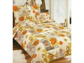 Obliečky TI AMO Oranžová Flanel 70x90 140x200 cm