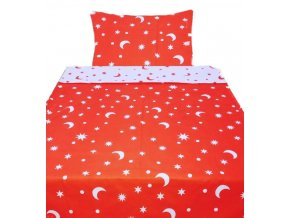 mesiac cervene 140x200cm bavlnene obliecky 1575 1611