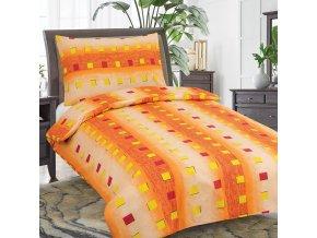 Obliečky NELIA Oranžová Bavlna 70x90 140x200 cm