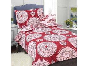 Obliečky MANDALA červená Bavlna 70x90 140x200 cm