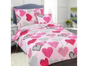Obliečky PASSION ružová Bavlna 70x90 140x200 cm