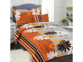 Obliečky ALICA oranžová Bavlna 70x90 140x200 cm