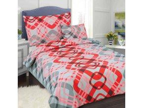 Obliečky DITA červená Bavlna 70x90 140x200 cm