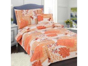 Obliečky Postcard oranžová  bavlna 7set
