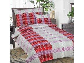 Obliečky IVETTE  červená Bavlna 3set