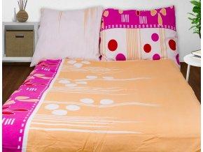 Obliečky AIDIA ružová Flanel 70x90 140x200 cm
