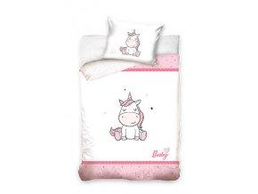 Baby Bettwäsche Babybettwäsche Kinderbettwäsche Mädchen Einhorn Sterne 100x135