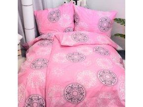 Obliečky MANDALA Ružová Bavlna 70x90 140x200 cm