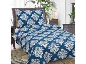 Obliečky DARA modrá Bavlna 70x90 140x200 cm