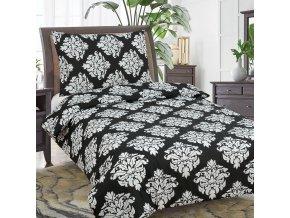 Obliečky DARA čierna Bavlna 70x90 140x200 cm