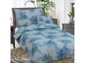 Obliečky ROSE MARRY  modrá  Bavlna 70x90 140x200 cm