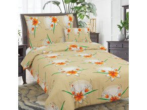 Obliečky BETTINA  béžová  Bavlna 70x90 140x200 cm