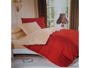 Obliečky Bavlnené LUNA červená
