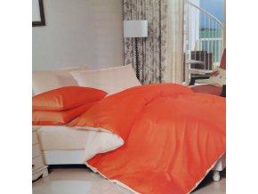 Obliečky Bavlnené LUNA oranžová