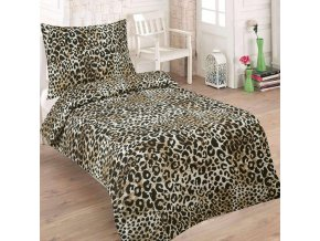 Obliečky SALMA Leopard Bavlna 70x90 140x200 cm