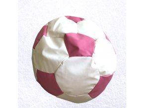 sedaci vak futbal bielo ruzova
