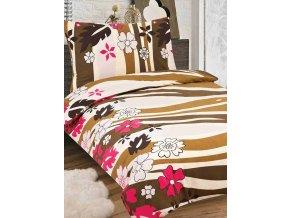 bonita flanelove obliecky 140x200cm hneda