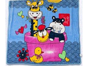 deka detska zvieratka vo vanicke 110x140cm 500x500