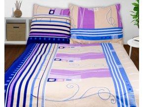 Obliečky AGLAE béžová Bavlna 70x90 140x200 cm