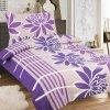Obliečky PALOMA fialová Zips Bavlna 70x90 140x200 cm