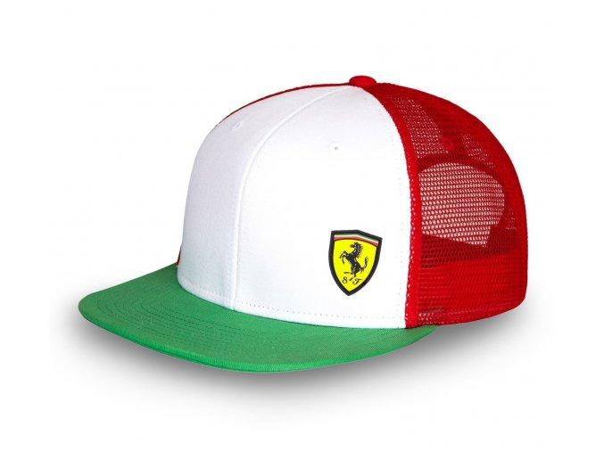 eng pl Ferrari flat brim Tricolore Cap with Mesh 331 4