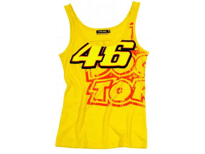 valentino rossi damske tricko tank top yellow full 1