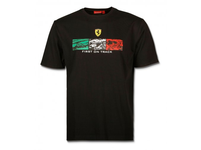 ferrari tricko comic stripe black full 1