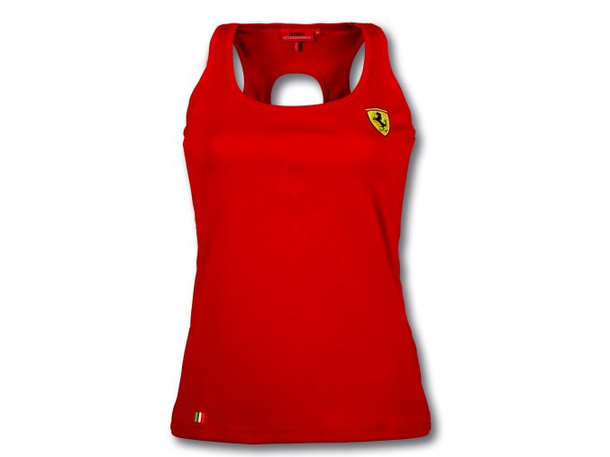 ferrari tricko damske scudetto hole red full 1