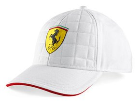 siltovka ferrari white stiched cap
