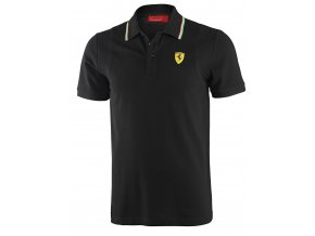 ferrari polo kosela italian collar black full 1
