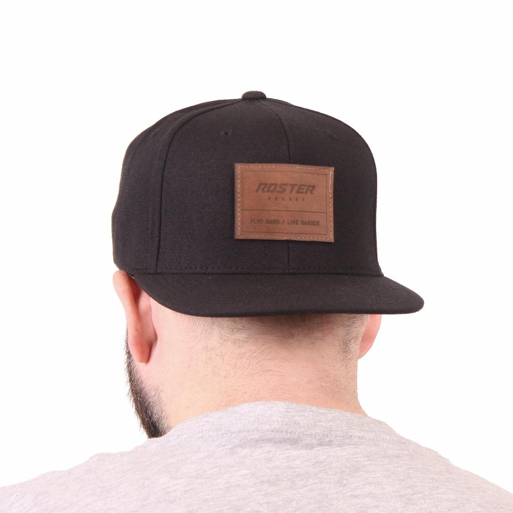 kšiltovka play hard big brown leather 03