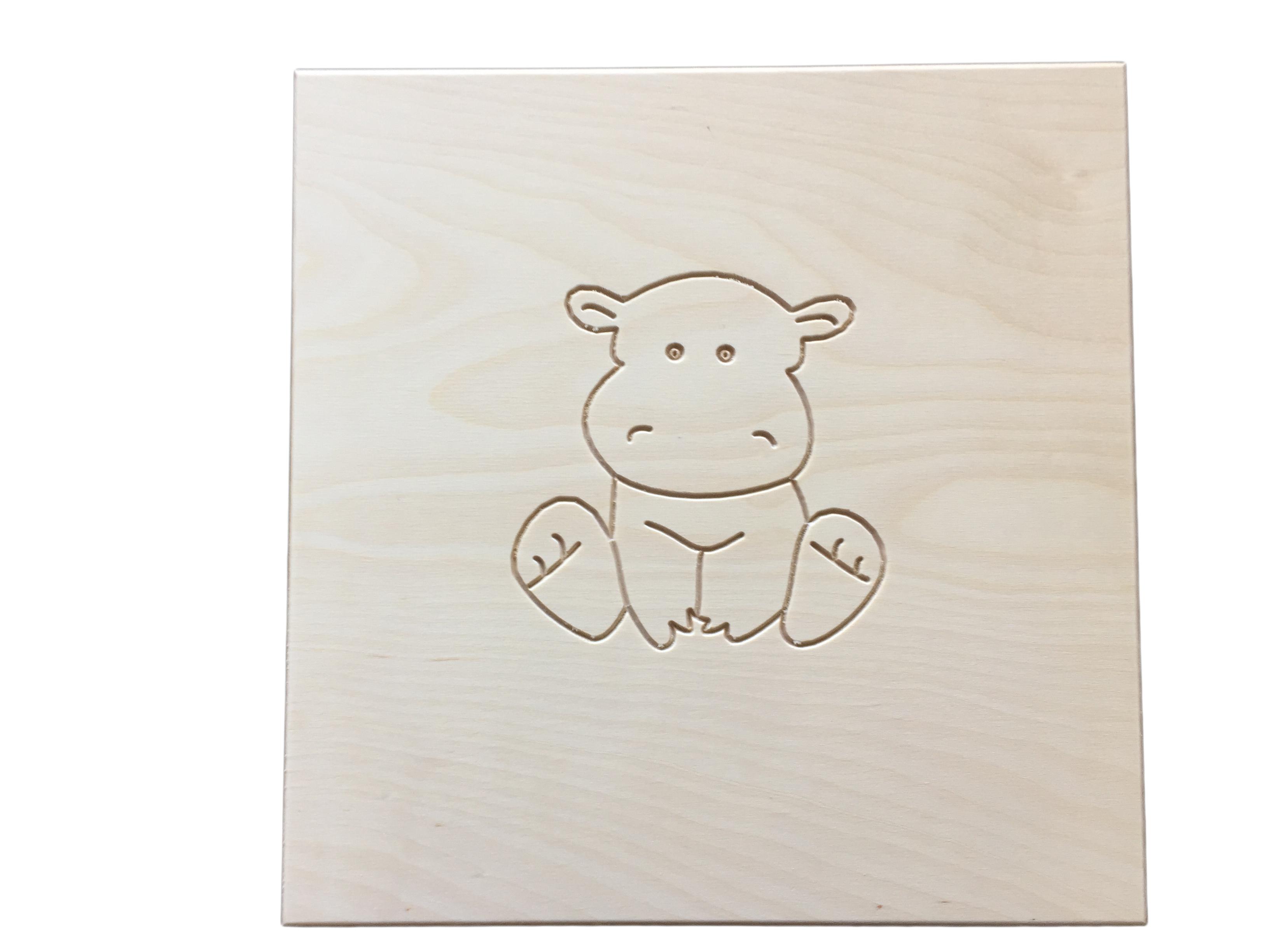 Dětská rostoucí židle - Dětské obrázky - Hrošík