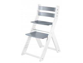 Rostoucí židle SANDY BÍLÁ ŠEDÁ