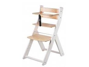 Rostoucí židle LUCA BÍLÁ LAK