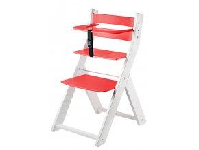 Rostoucí židle WOOD PARTNER LUCA kombi - 001, bílá/lak